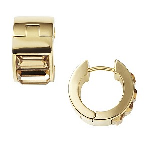 DKNY ladies' gold-plated & baguette stone set earrings - Product number 9293809