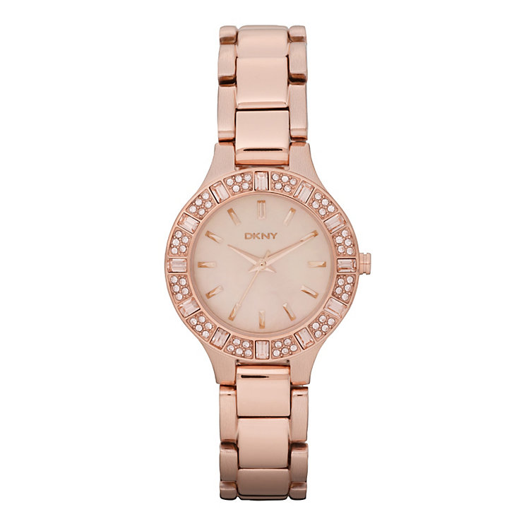 DKNY ladies' rose-gold plated bracelet watch - Product number 9294244