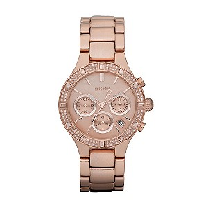 DKNY ladies' rose gold plated bracelet chronograph watch - Product number 9294279