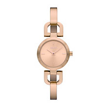 Dkny Ladies' Rose Gold Tone Bangle Watch - Product number 9294449