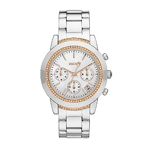 DKNY ladies' stainless steel & stone set bracelet watch - Product number 9294546