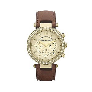Michael Kors ladies' brown strap watch - Product number 9294589