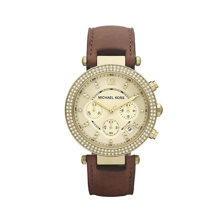Michael Kors ladies' brown strap watch - Product number 9294589