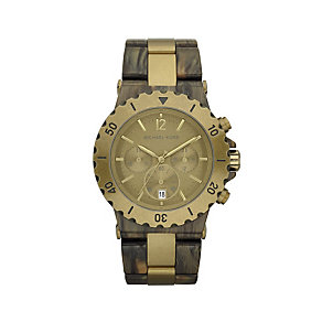 Michael Kors ladies' gold plated & brown bracelet watch - Product number 9294619