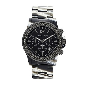 Michael Kors ladies' zebra ion plated bracelet watch - Product number 9294635