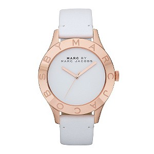Marc By Marc Jacobs rose gold-plated & white strap watch - Product number 9294724