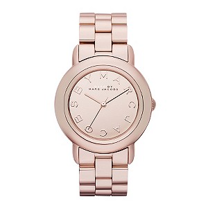 Marc By Marc Jacobs rose gold-plated & white strap watch - Product number 9295011