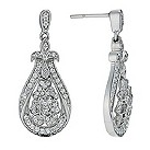 Celebration 9ct white gold diamond flower drop earrings - Product number 9295127