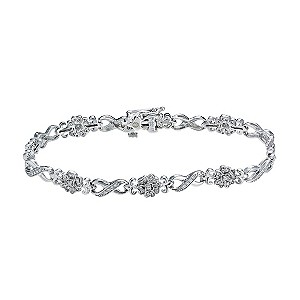 Celebration 9ct white gold diamond bracelet - Product number 9295143