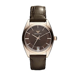 Emporio Armani ladies' brown strap watch - Product number 9298231