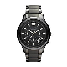 Emporio Armani Men's Black Ceramic Bracelet Watch - Product number 9298320