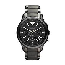 Emporio Armani Men's Black Ceramic Bracelet Watch - Product number 9298320