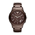 Emporio Armani men's brown ceramic bracelet watch - Product number 9298339