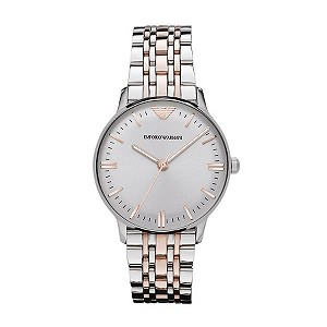 Emporio Armani ladies' two colour bracelet watch - Product number 9298371