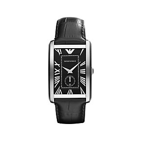 Emporio Armani stainless steel & black strap watch - Product number 9298452