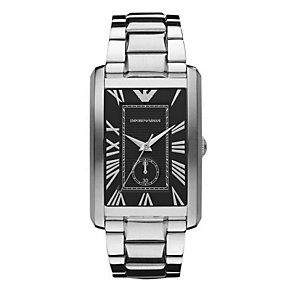 Emporio Armani Men's Rectangular Dial Stainless Steel Watch - Product number 9298479