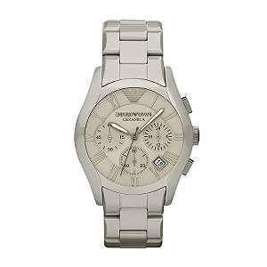 Emporio Armani men's grey ceramic chronograph watch - Product number 9298509