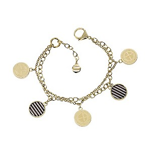 Emporio Armani gold plated double layer disc bracelet - Product number 9298738