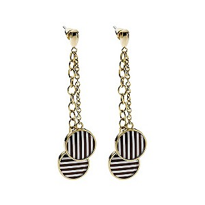Emporio Armani gold plated stripe disc earrings - Product number 9298746
