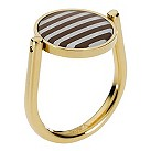 Emporio Armani gold-plated circle stripe ring - size M1/2 - Product number 9298754