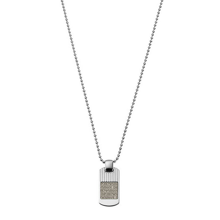Emporio Armani men's stainless steel logo necklace - Product number 9298770
