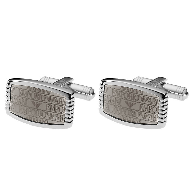 Emporio Armani stainless steel logo cufflinks - Product number 9298789
