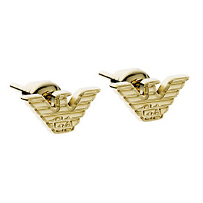 Emporio Armani gold plated logo stud earrings - Product number 9298819