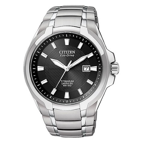Citizen EcoDrive men&39s titanium sapphire bracelet watch