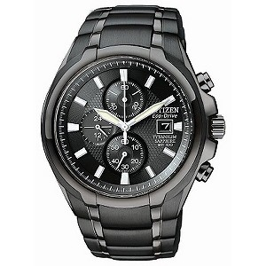 Citizen Eco-Drive black titanium bracelet watch - Product number 9299467