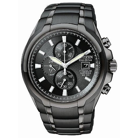 Citizen EcoDrive black titanium bracelet watch