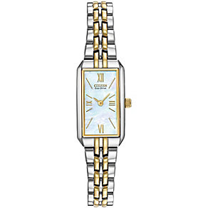 Citizen Eco-Drive ladies' two tone bracelet watch - Product number 9299475