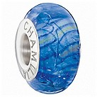 Chamilia silver blue glitter glass bead - Product number 9301623