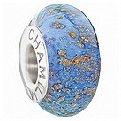 Chamilia pale blue glitter glass bead - Product number 9301666