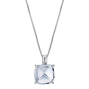 Northern Lights Silver Square Crystal Pendant - Product number 9303138