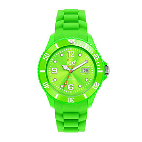 Ice-Watch Ladies' Green Silicone Strap Watch - Product number 9303545
