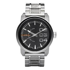 Diesel Men's Double Down 46 Silver Bracelet Watch - Product number 9303634