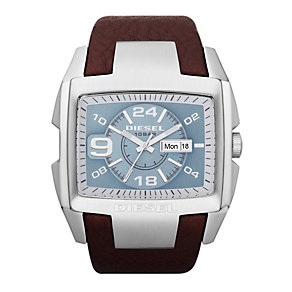 Diesel Men's Bugout Blue Dial & Brown Strap Watch - Product number 9303715