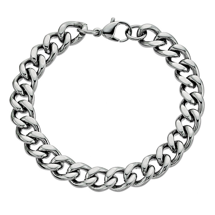 """Stainless Steel 8.5"""" Curb Bracelet - Product number 9303995"""