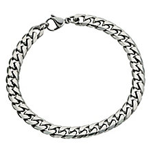 """Stainless Steel 8.5"""" Curb Bracelet - Product number 9304142"""