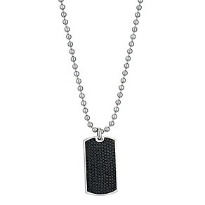 Eternal Men's Black Crytsal Dog Tag - Product number 9304746
