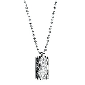 Eternal Men's Clear Crystal Dog Tag - Product number 9304754
