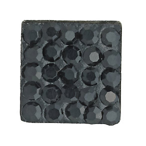 Eternal Men's Black Crystal Square Stud Earring - Product number 9304762