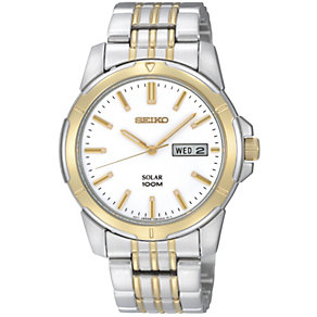 Seiko men's two colour bracelet watch - Product number 9308180