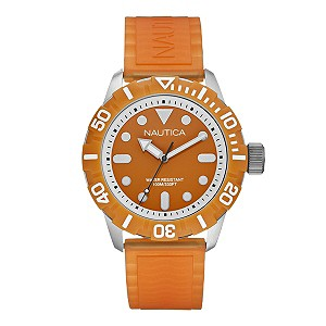 Nautica men's orange jelly strap watch - Product number 9312358