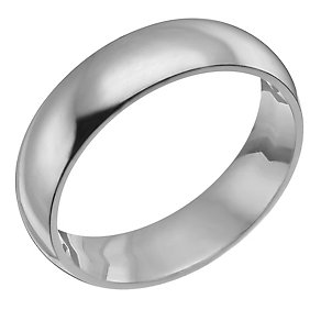 Platinum 8mm super heavy court ring - Product number 9313958