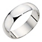 Platinum extra heavy D-shape 7mm ring - Product number 9314865