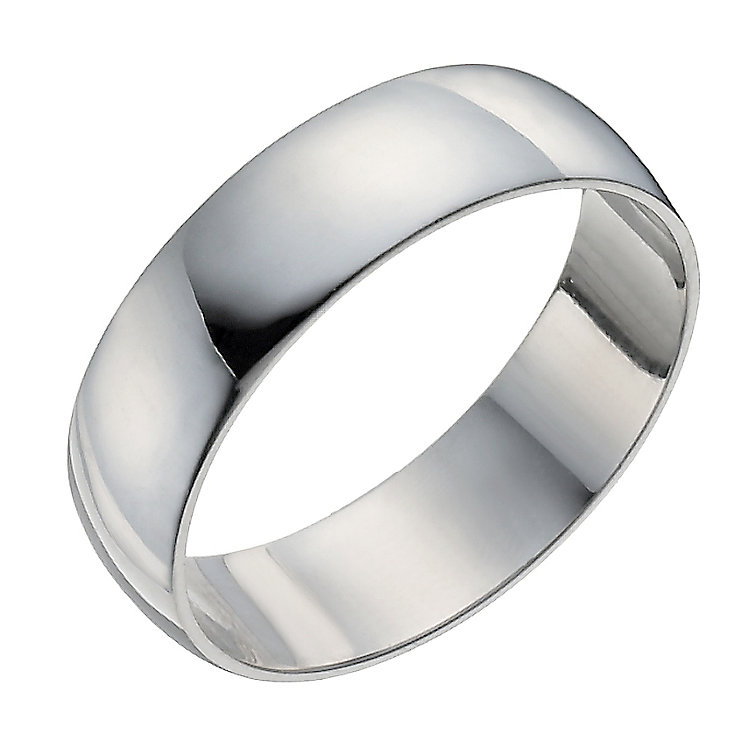 Palladium 950 7mm extra heavy D-shape ring - Product number 9316108