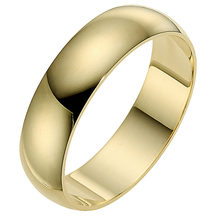 18ct yellow gold extra heavy D-shape 8mm ring - Product number 9317287