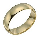 18ct yellow 7mm gold super heavy court ring - Product number 9317597