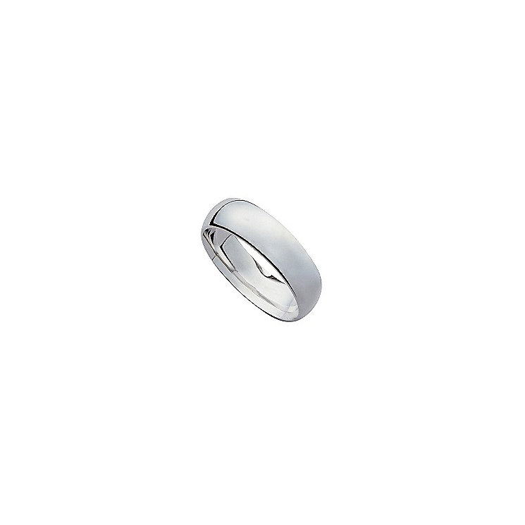 18ct white gold 8mm super heavy weight court ring - Product number 9319956